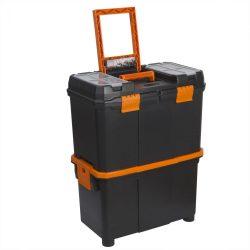Húzható, többrészes műanyag szerszámláda (10932)