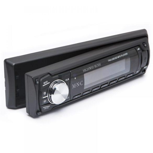 MNC Highway Rush MP3-as autórádió USB/SD/MMC kártyaolvasóval (fekete) (39711BK)