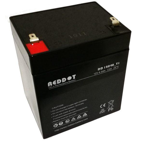RedDot DD12040 12V 4Ah zselés akkumulátor