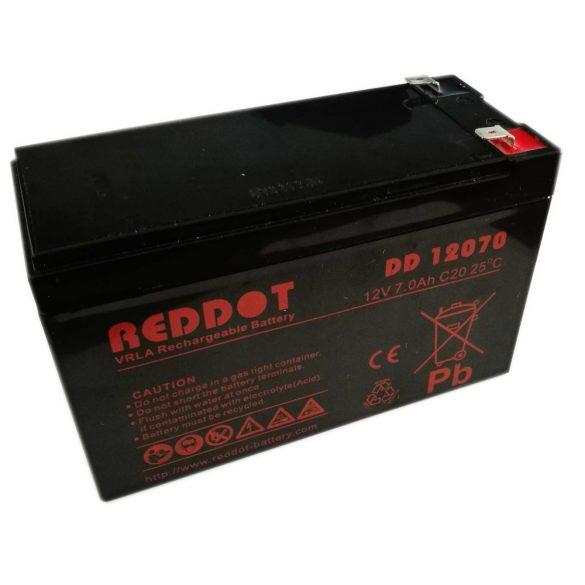 RedDot DD12070 12V 7Ah zselés akkumulátor T2 (szünetmentes tápegységekbe)