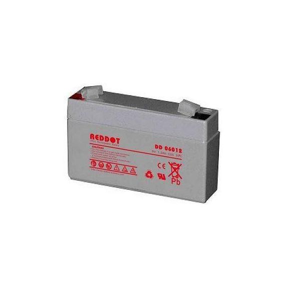 RedDot DD06012 6V 1,2Ah zselés akkumulátor