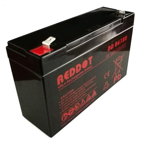RedDot DD06120 6V 12Ah zselés akkumulátor