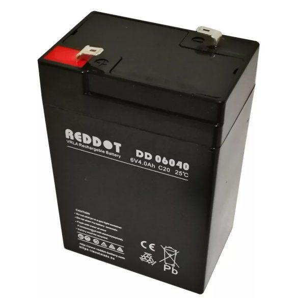 RedDot DD06040 6V 4Ah zselés akkumulátor