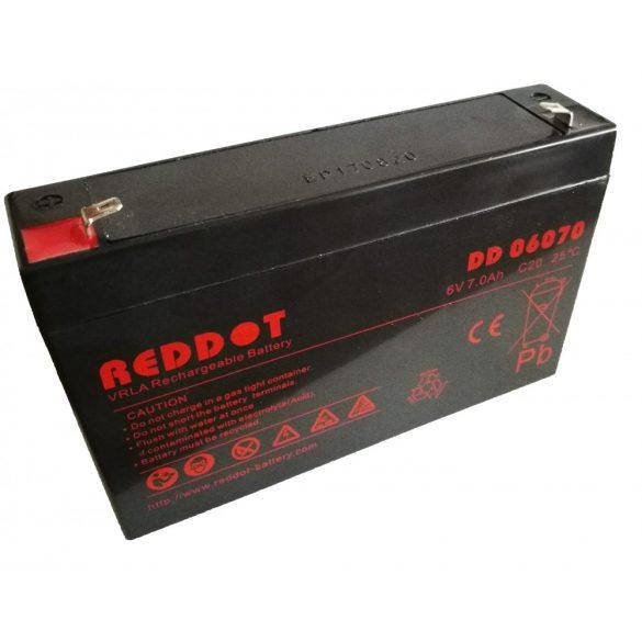 RedDot DD06070 6V 7Ah zselés akkumulátor