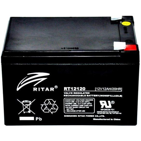 Ritar RT12120 12V 12Ah zselés akkumulátor T2