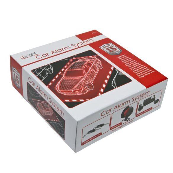 DeLight Távirányítós autóriasztó rendszer központi zár vezérlő szettel (55076)