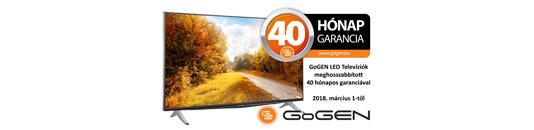 GoGEN TV-k 40 hónap garanciával